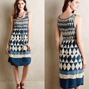 MAEVE Anthro Catalia Smocked Batik Boho Dress 4